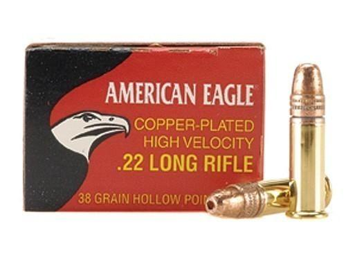 American Eagle 38gr Copper Plated HP .22lr
