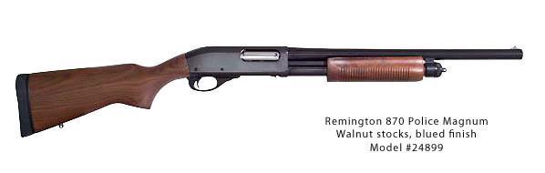 Remington 870 Police shotgun with BLUED finish (24899)
