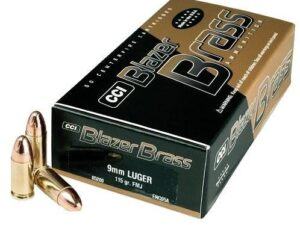 CCI Blazer Brass 9 mm 115Gr. FMJ (50 Rounds)