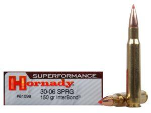 Hornady Superperformance 30-06 SPRG 150gr InterBond (20 Rounds)