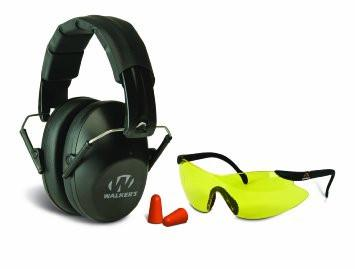 Walkers Low Profile Folding Ear/Eye Protection Set