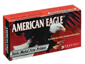 American Eagle Ammunition 40 S&W 180 Grain Total Metal Jacket - Toxic Metal Free Primer (50X)