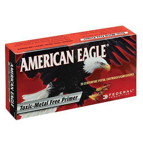 Case of American Eagle Ammunition 40 S&W 180 Grain Total Metal Jacket - Toxic Metal Free Primer (1000X)