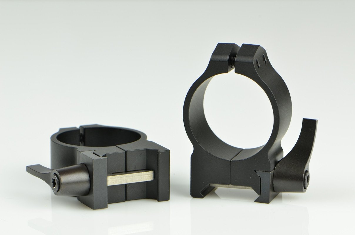 Warne 30mm QD Black Matte Med. Rings