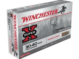 Winchester .30-40 Krag 180 Grain Pointed Soft Point, Power-point (20 Rounds)