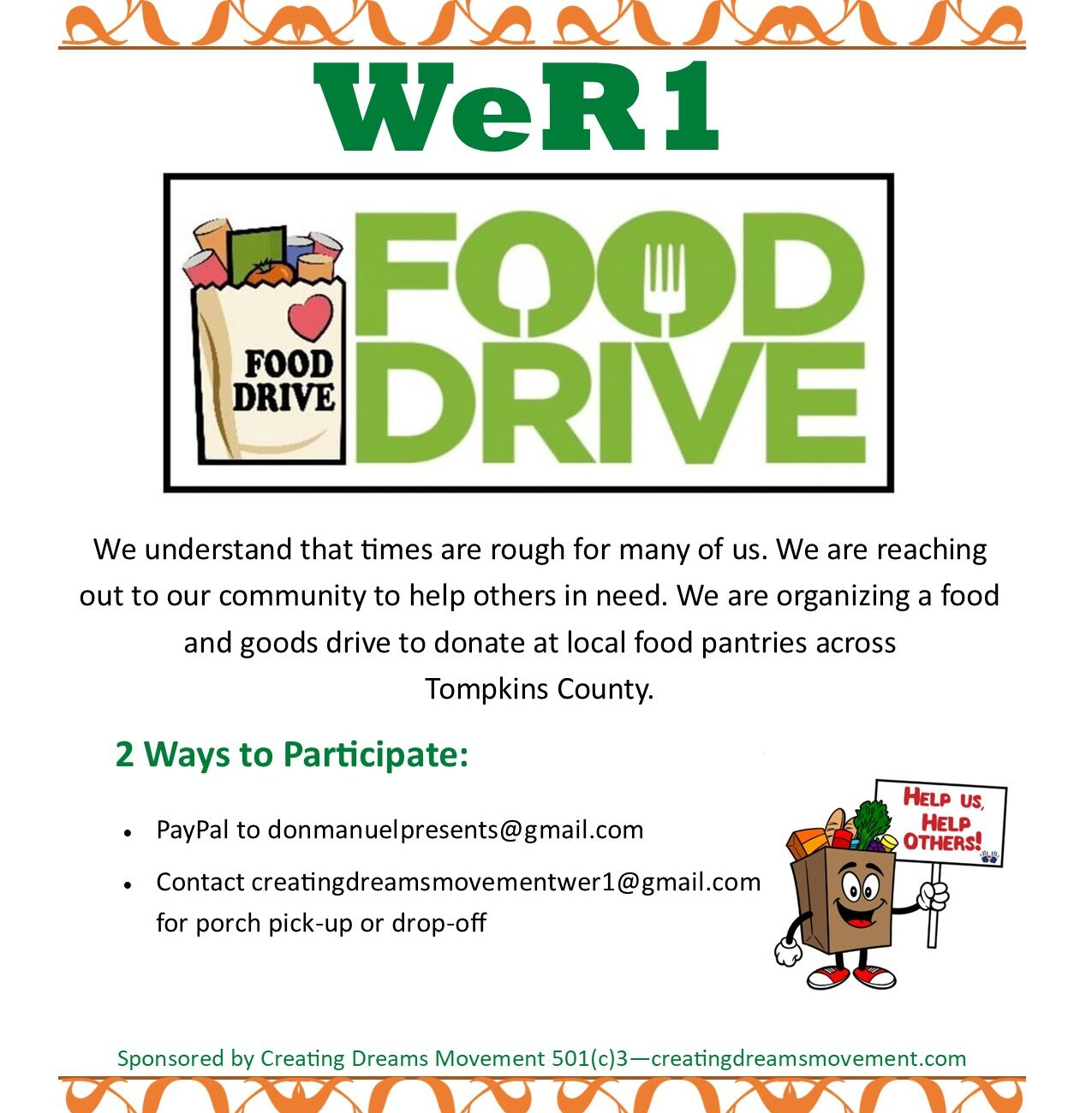 WeR1 Food Drive