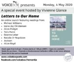 "Climate poetry: ""Letters to our Home"" Zoom launch 4 May 7pm Perth time"