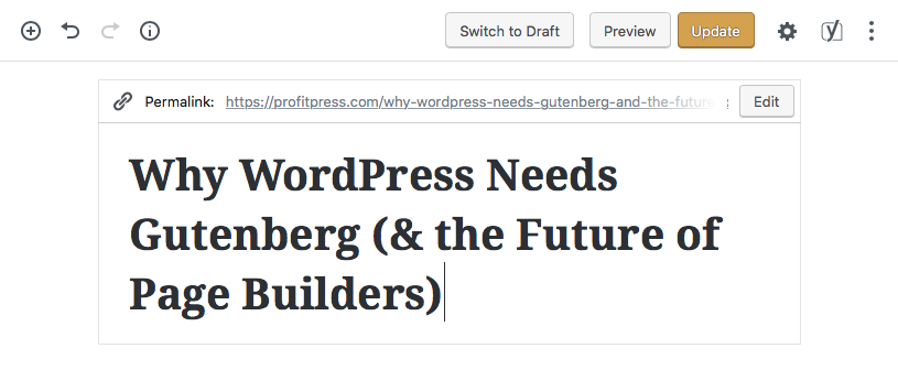 WordPress Gutenberg Demo