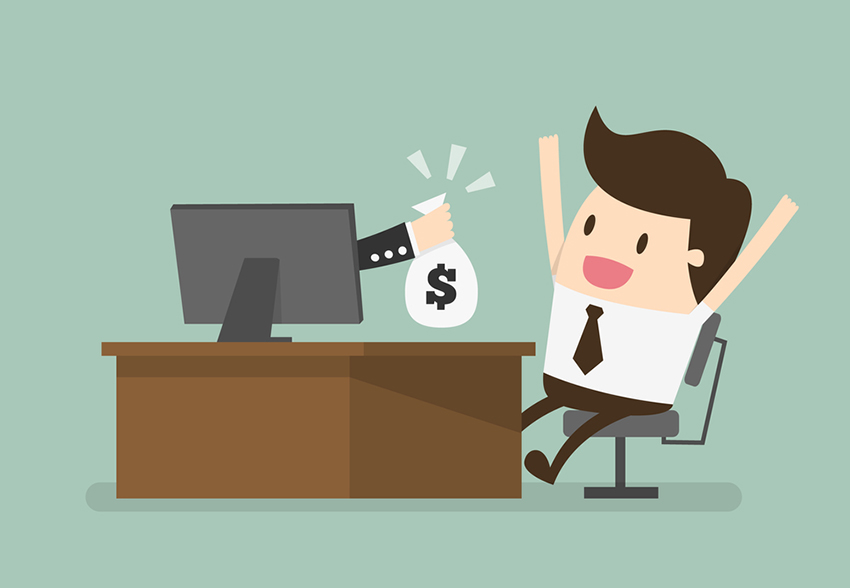 online business, eps 10 vector illustration