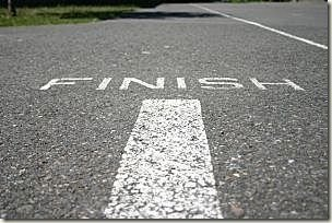 It's about how you finish