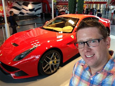 Kevin at Ferrari World