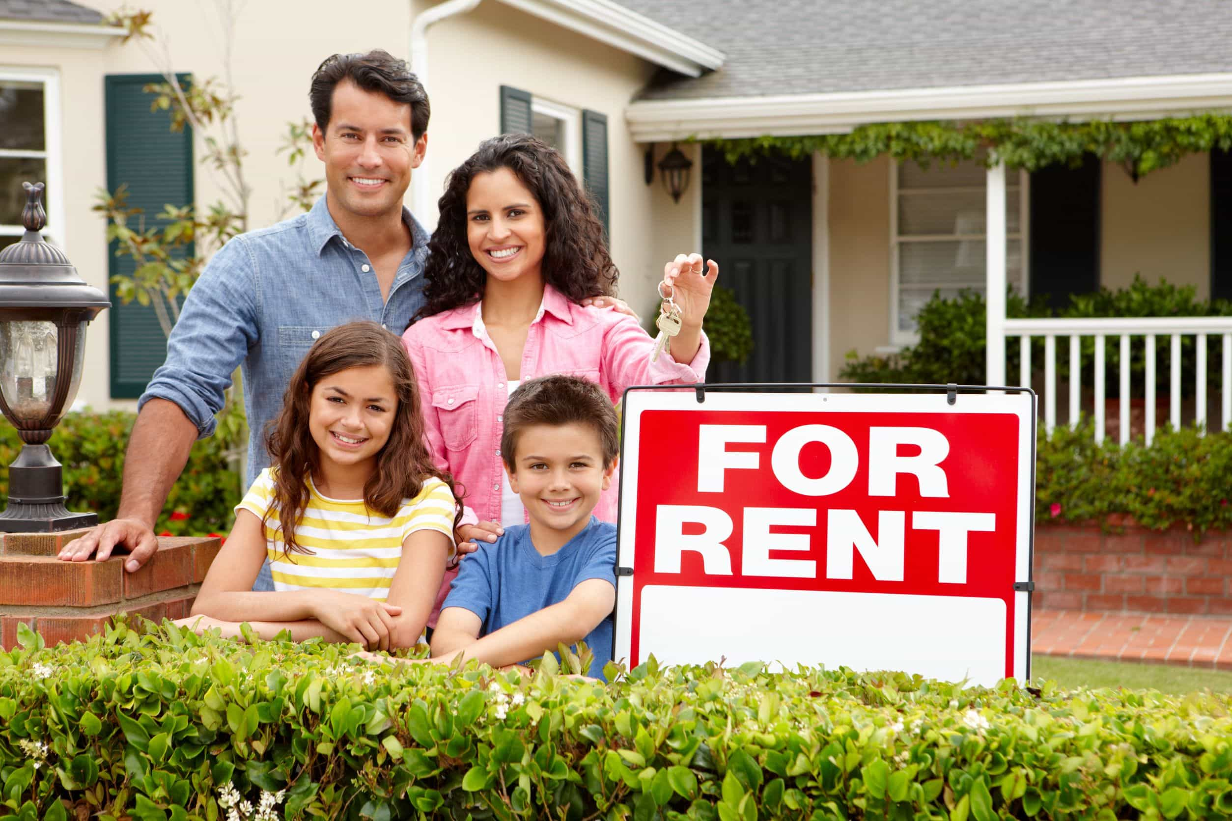 family outside home for rent
