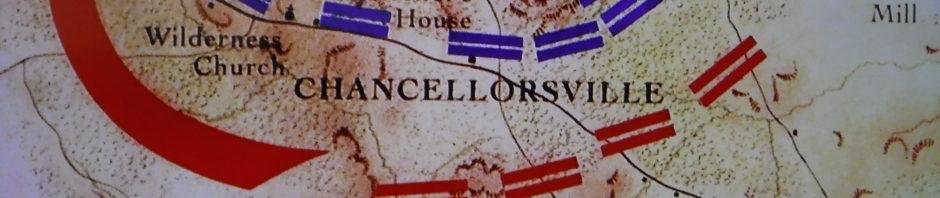 A map of Chancellorsville War