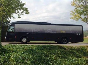 the mall by bus
