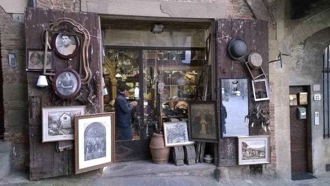 Antiekwinkeltje in Arezzo