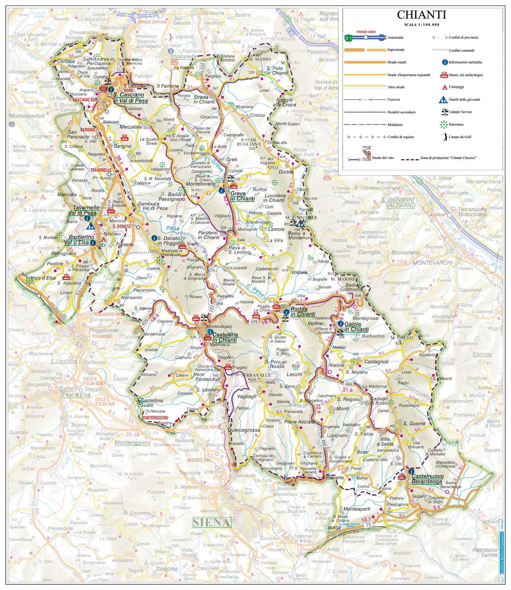 Chianti stadjes regio Firenze