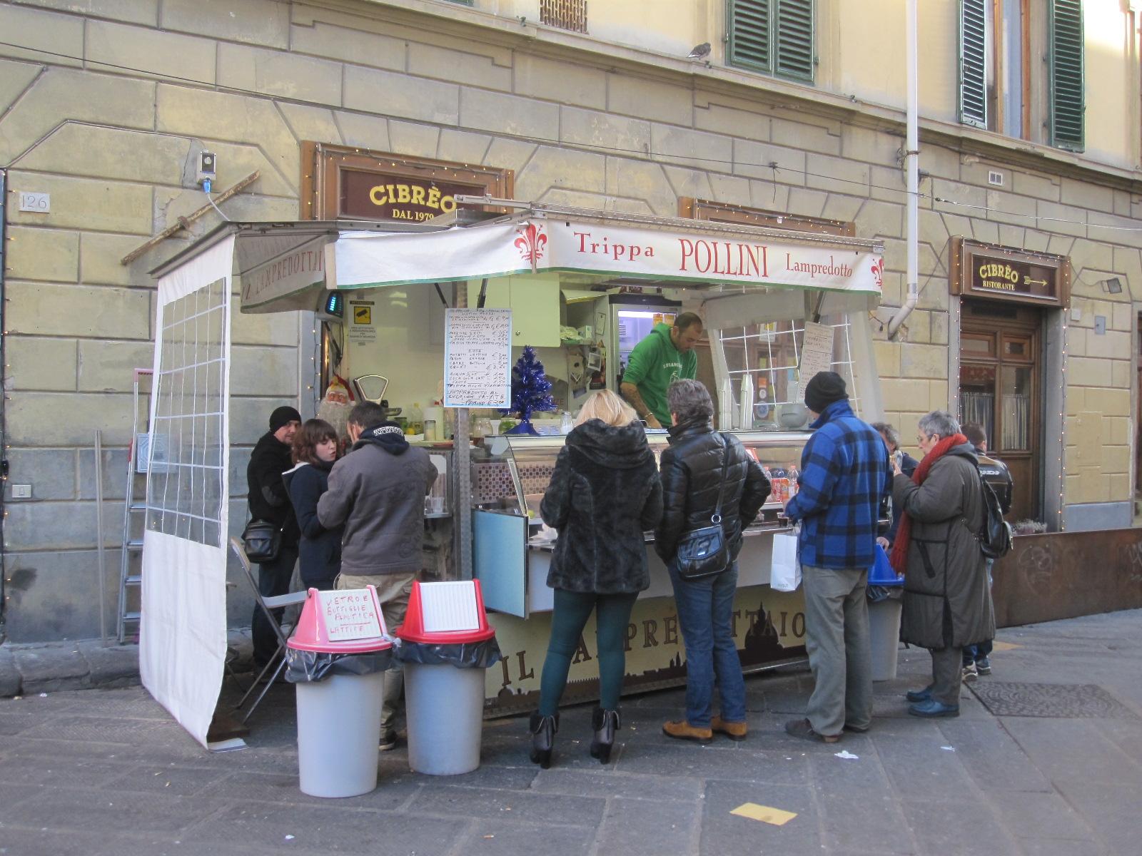 de trippaio of lampredottaio: terug te vinden op diverse plaatsen in de stad