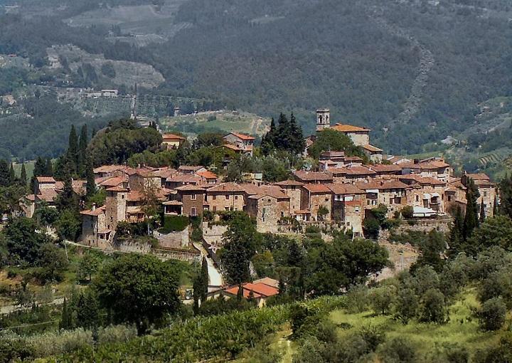 Het middeleeuwse dorp Montefioralle