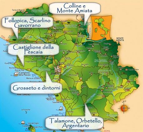 kaart Maremma bis