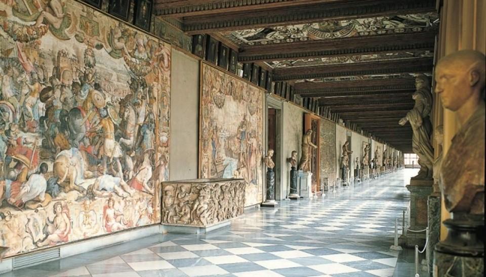 Hall in het Uffizi