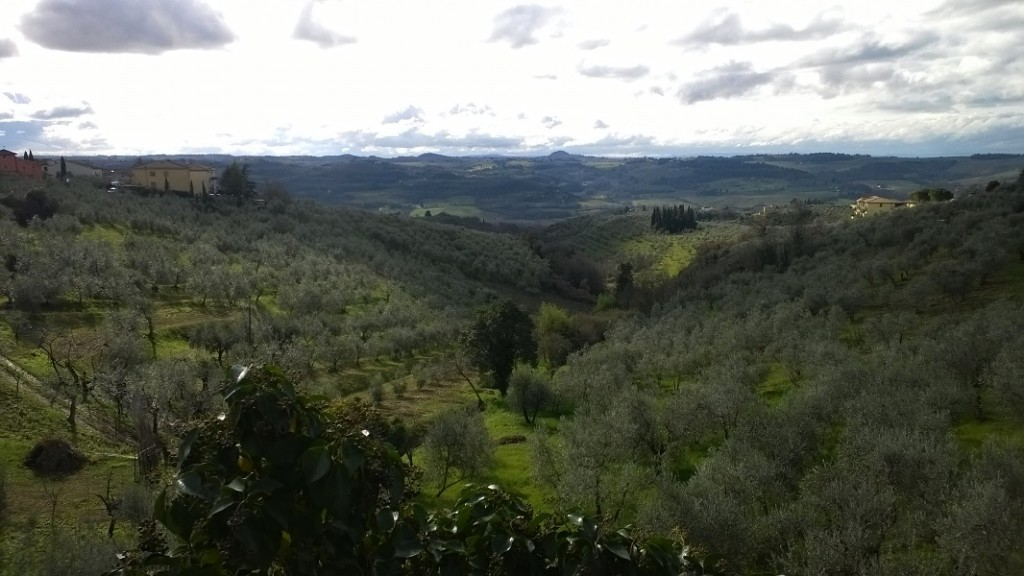 zicht op Chianti streek