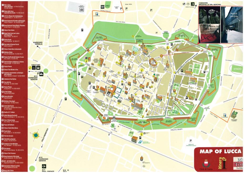 stadsplan historisch centrum Lucca