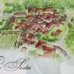 Het dorpje Villa a Sesta in de Chianti streek