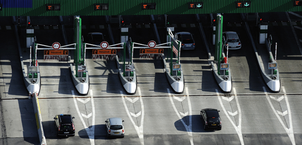 Autoroute A41 Annecy-Geneve Installations de la barrière de Peage d'Annecy