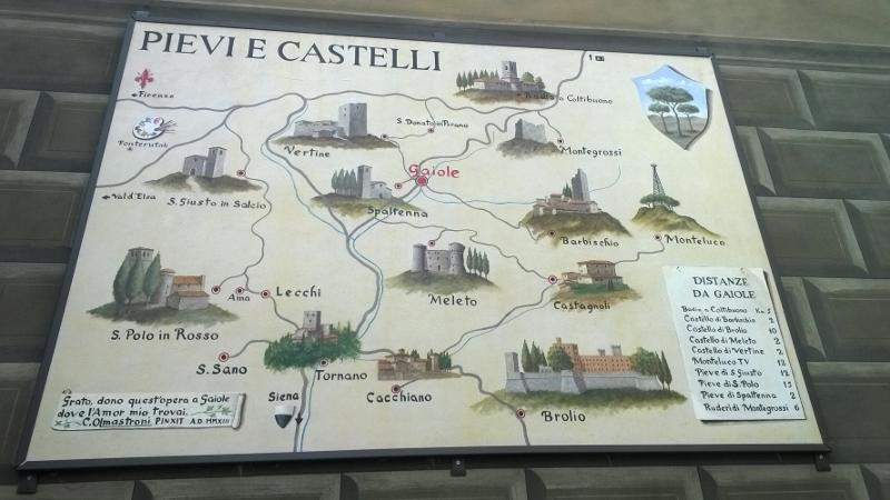 kastelen in de buurt van Gaiole in Chianti