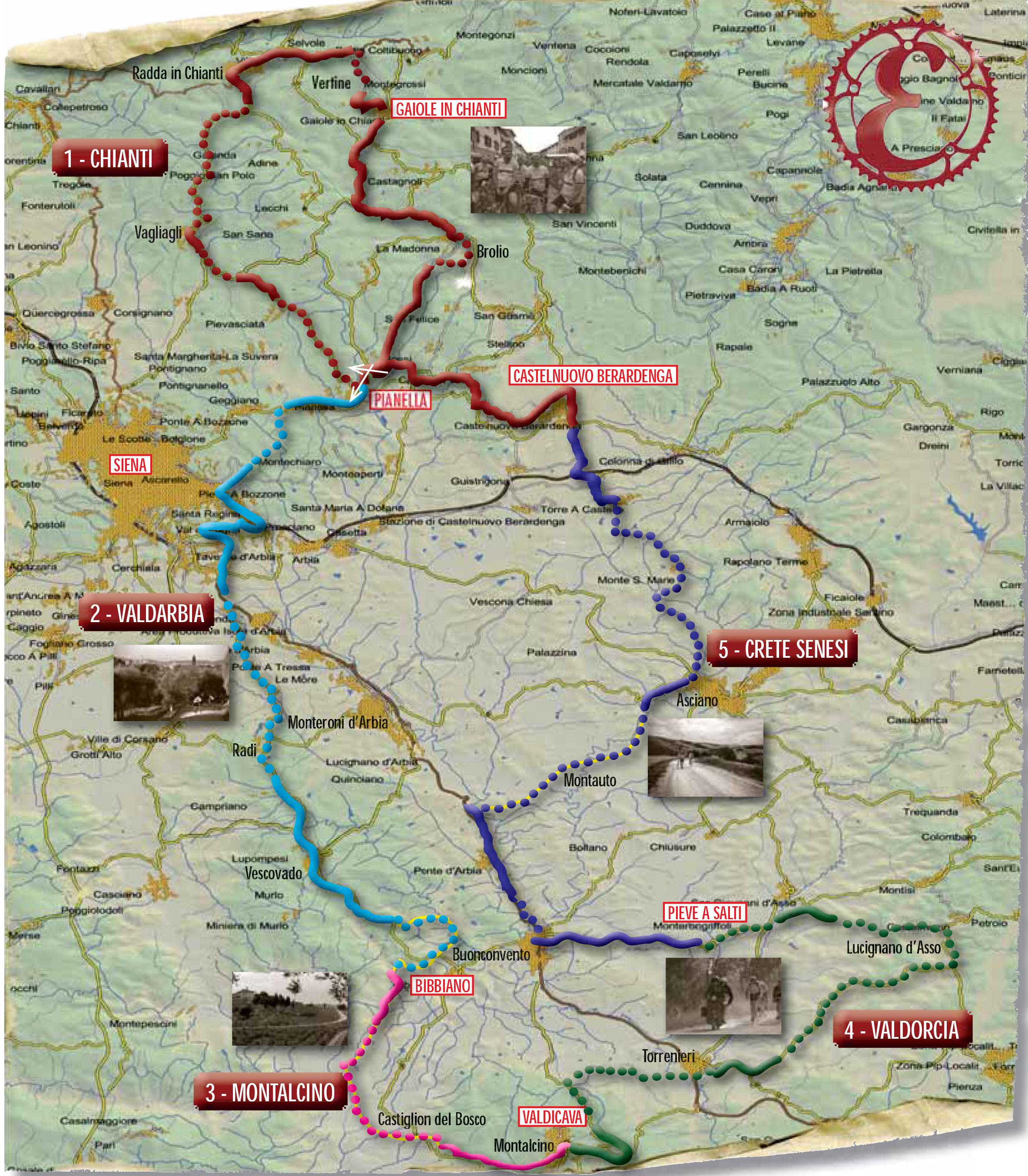 Map parcours Eroica