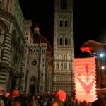 Stoet van lantaarns in Firenze