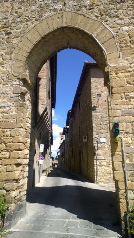 Het pittoreske Chianti Classico stadje Barberino Val d'Elsa