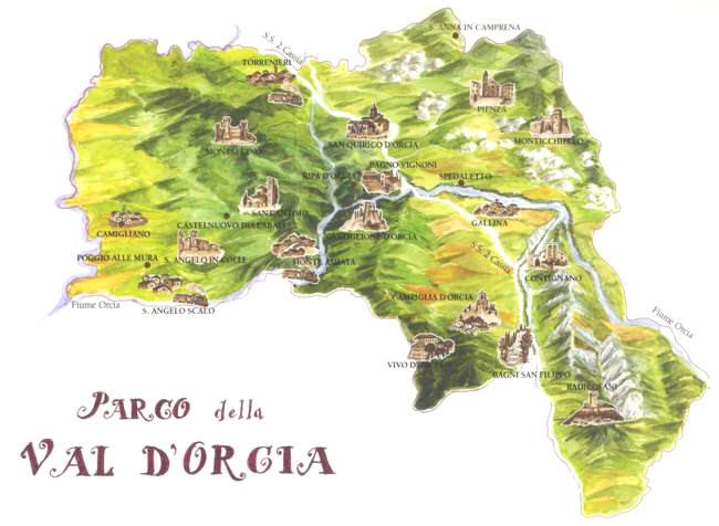 Valdorcia map