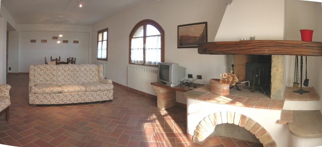 Het salon van het appartement Loggiato