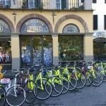 Fietsen op de stadsmuren van Lucca
