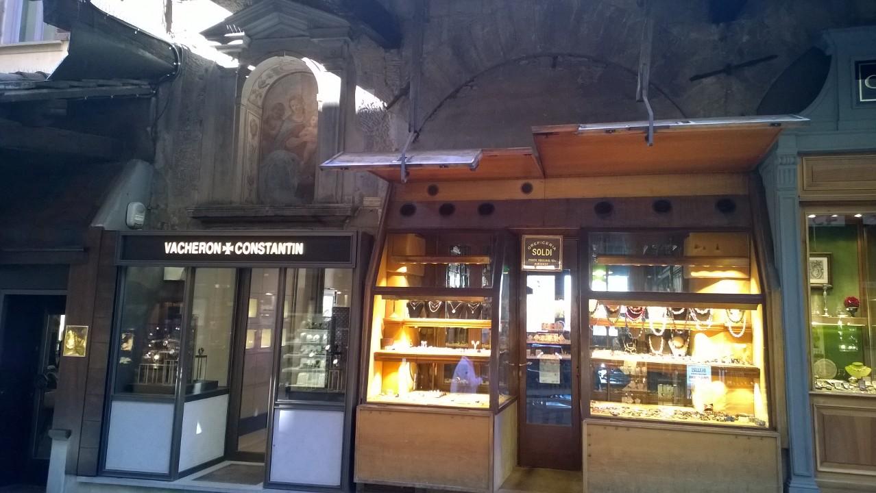 winkel op Ponte Vecchio Firenze