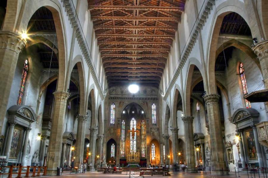 Kerk Santa Croce Firenze interieur
