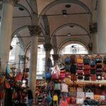 De ledermarkt Mercato Nuovo in Florence
