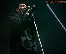 Marilyn Manson concert photos.