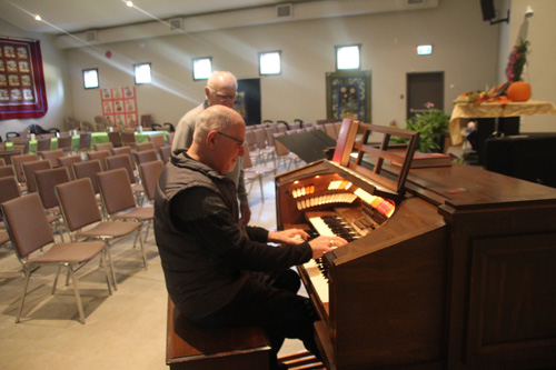 Playing Organ at Mill Bay Fellowship Baptist Church