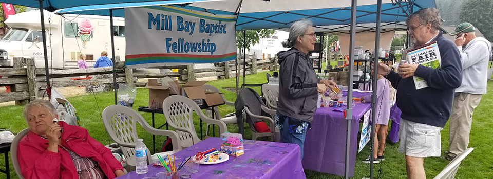 Mill Bay Baptist Fellowship Church at Cobble Hill Fair August 2018
