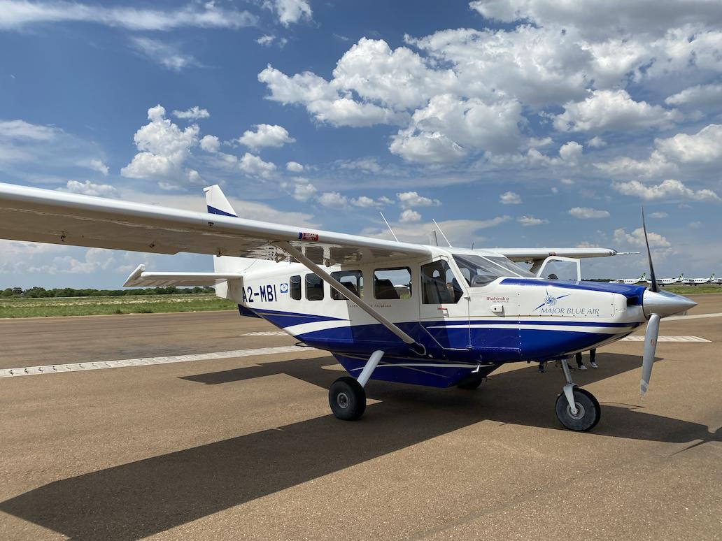 Botswana safari bush flight