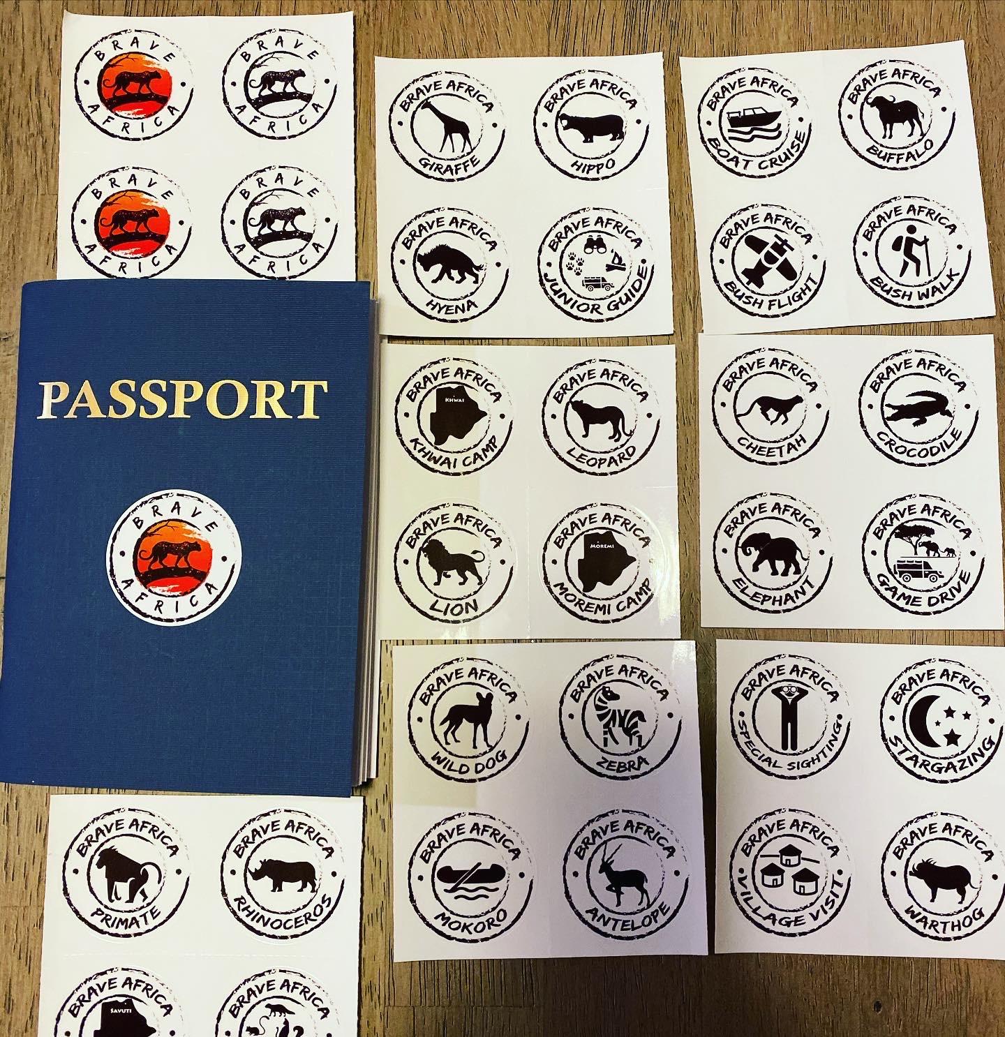 Brave Africa Passport Stickers