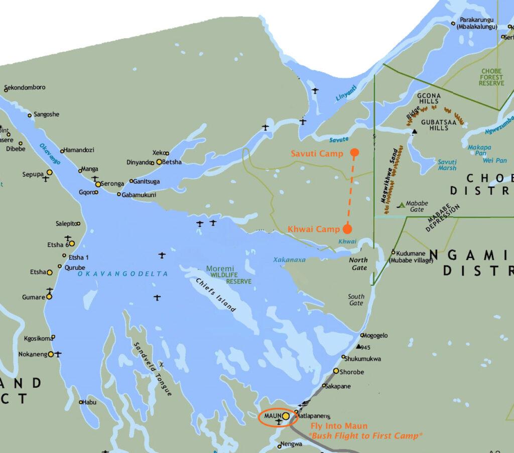 Brave Explorer 7-day Safari Map