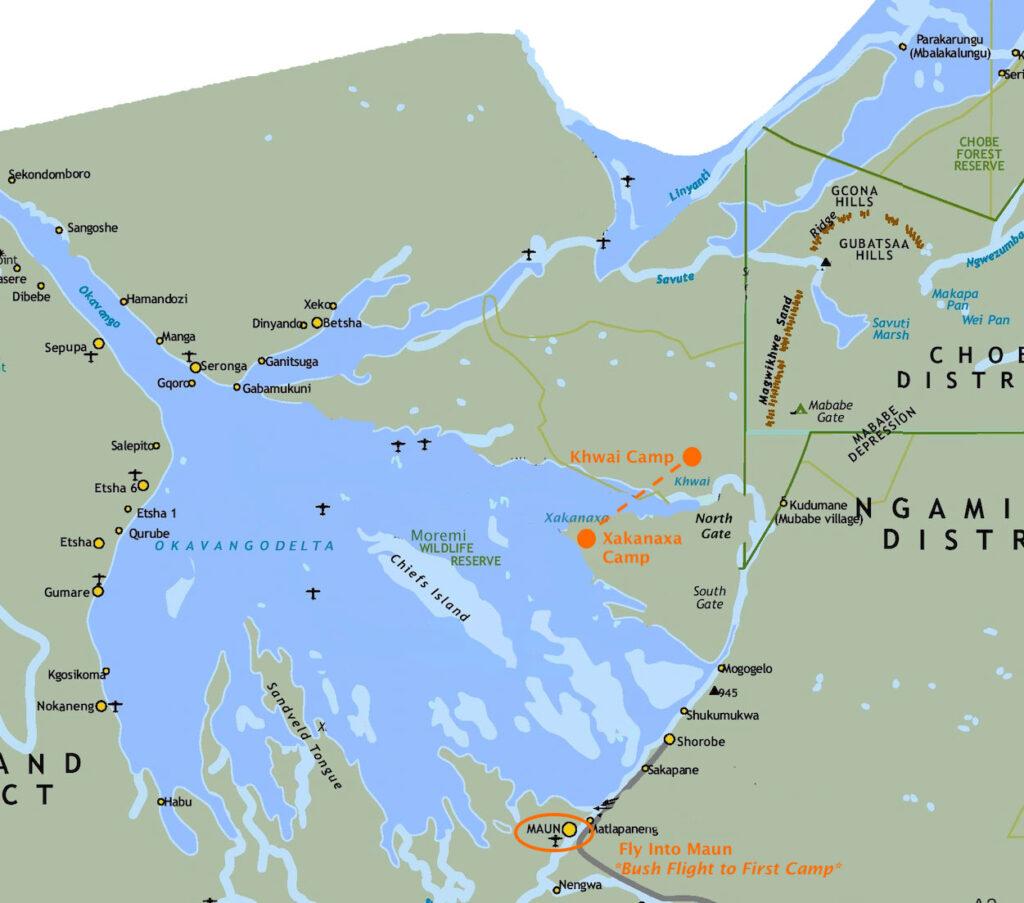 Brave Discoverer 7-day Safari Map