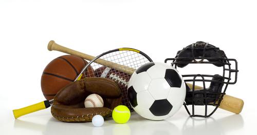 Sport's Gear on White Background