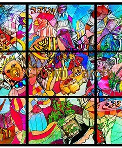 Stained Glass Painting of Jewish Holidays