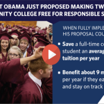 President Obama proposes free community college for responsible students