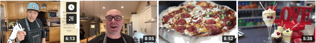 Videos of chefs cooking up some of our cookbook recipes!