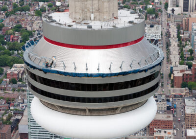 SPEED FAN IN USE DURING CONSTRUCTION OF THE CN TOWER EDGE WALK